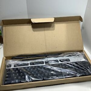 HP Black / Silver Wired PS2 Keyboard With Numeric Pad 434820-001, New in Box.