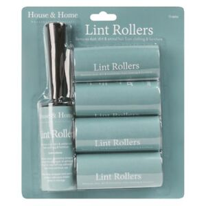 Lint Rollers And Refills 5 Piece collecting unwanted dirt, dust and hair lint UK