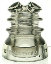 New ListingCd 214 Clear Whitall Tatum No. 10 Antique Glass Telegraph Insulator Cable Top!
