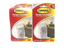 Command Accent Hook Small Metallic Coated 2 Packs 1 Each 2 Total