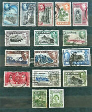 LOT OF 16 OLD BRITISH COLONY STAMPS CEYLON / USED