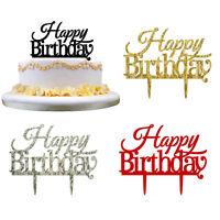 New HAPPY BIRTHDAY Cake Topper Insert Card Acrylic Cake Decoration Party Decor
