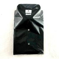Ryan Seacrest Men's Slim Fit Dress Shirt, Black, Size 16.5 32/33