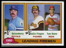 1981 Topps Baseball Grocery Cello Pack - 1980 Leading Firemen on Top - NM