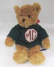 MG 'CECIL' TEDDY BEAR, WITH GREEN JUMPER, BRAND NEW (BGR68C)
