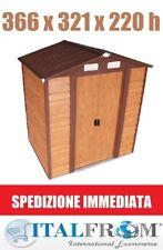 Box Casetta Ripostiglio Garage per Giardino Lamiera Finto Legno Zincata Italfrom