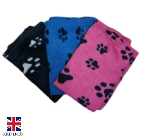 Pet Blanket Soft Touch Fleece Warm Cosy Dog Puppy Cat Comfort Travel Bed Basket