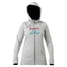 Women's DC Shoes Snowstar Fleece Hoodie Jacket Heather Grey Size Medium M
