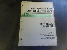 John Deere 4500 4600 4700 Compact Utility Tractors Technical Manual Tm1679