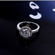 925 Sterling Silver AAA Grade Cubic Zirconia Engagement/Wedding Ring. 12 Sizes