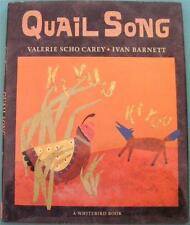 QUAIL SONG NATIVE AMERICAN PUEBLO INDIAN FOLKLORE  AUTHOR SIGNED AUTOGRAPH BOOK