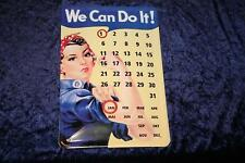 We can do it  Blechschild 20x30 cm als ewiger Kalender
