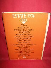 ESTATE 1974 Libretto 19 Spartiti MINA McCARTNEY DYLAN GABER CARRA MODUGNO etc.
