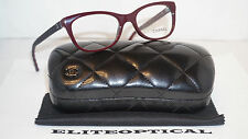 New Authentic CHANEL RX Eyeglasses Havana Leather/Clear 3288-Q C.1464 49 17 140
