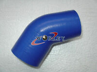 """Silicone Joiner Elbow Radiator Hose 45 Degree Bend 64mm 2.5"""" inch Silicon Pipe"""