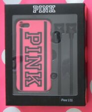 Victoria's Secret PINK IPHONE® 5 Soft, durable CASE & bright EARBUD SET NEW!