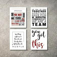 Inspirational Wall Art 4 Poster Prints Quote posters Motivational Office