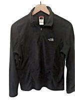 The North Face Womens Medium 1/4 Zip Black Fleece Pullover Jacket TKA 100