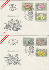 Austria  FDCs 1964 Horticuture set on two covers