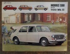 Morris 1300 & 1100 MK II Orig 1968 1969 Reino Unido Mkt folleto de ventas-BL 2457/D