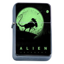 Alien Em1 Flip Top Oil Lighter Wind Resistant With Case