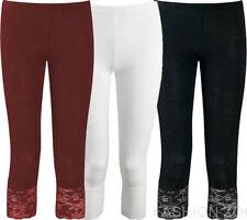 Leggings da donna in cotone bianco