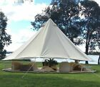 Camping Canvas Bell Tent 5M Outdoor Waterproof Cotton Canvas Glamping Yurt Tents