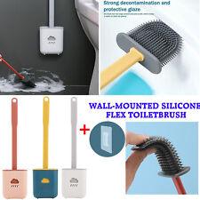 Revolutionary Silicone Flex Toilet Brush And Holder Creative Cleaning Brush Set
