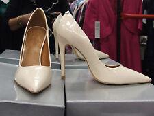 Cecille BNIB UK 5 Exquisite Stiletto Heels Patent Cream Leather Eve Shoes EU 38
