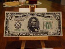 1934/A $5 FR STAR NOTE,CHIGAGO DISTRICT,GEM CU WITH ALIGNMENT ERROR,SUPER RARE
