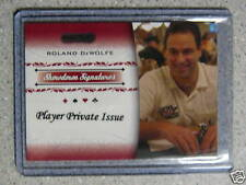 2007 Razor Leaf Poker Private Player Issue Roland DeWolfe /5