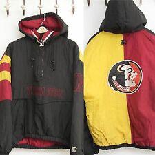 Vintage Starter Jacket Florida State M Pullover Coat 90's Seminoles Hood FLAW