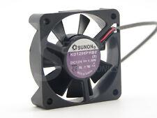 Original SUNON KD1206PHB2 6015 6cm 60mm DC 12V 0.19W 2Wire Silence axial fan