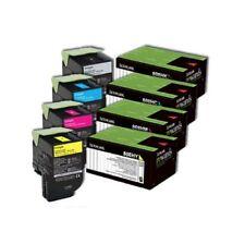 SET Lexmark Genuine 80C8HKE 80C8HCE 80C8HME 80C8HYE Toners For CX410 CX510