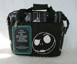 Disney Nightmare Before Christmas Insulated Lunch Cooler Jack Skellington NWT