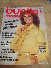 MAGAZINE BURDA MODEN VINTAGE TROUSSEAU BEBE LES ROBES EN SOIE  02 / 1982