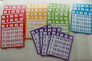 "Lot of 21 Paper Bingo Cards 5"" square"