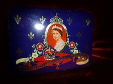 Vintage CADBURY QUEEN ELIZABETH II Coronation 50s CONFECTIONARY TIN Advertising