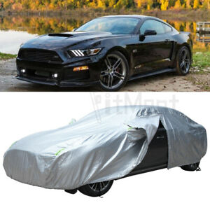 For Ford Mustang GT 1990-2019 6 Layer Car Cover Outdoor Waterproof All Weather
