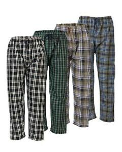 MENS Woven Checked Multicoloured Trousers pyjama LOUNGE PANT POLYCOTTON SIZE XS
