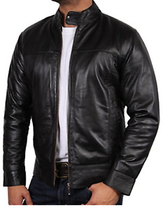 Mens Nappa Real Leather Jacket Mens Fashion Coat Casual Formal Wears