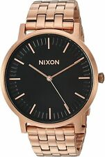 Nixon Men's Porter A10571932-00 40mm Black Dial Stainless Steel Watch