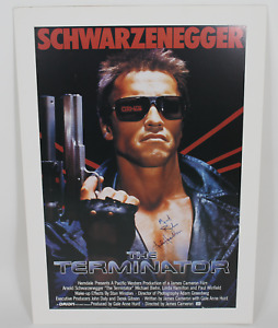 The Terminator cast signed autographed poster! RARE! AMCo Authenticated!