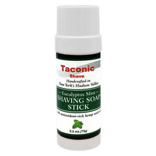 Taconic Shave Eucalyptus Mint Soap Stick Handcrafted Shaving Soap - Made in USA