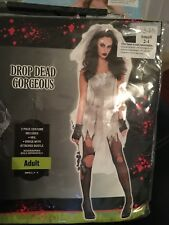 Drop dead Gorgeous Zombie Halloween Costume dress up Adult small