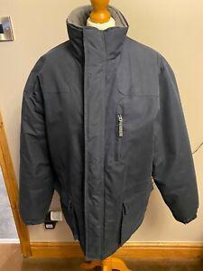 mans bhs padded outdoor coat /jacket navy blue size medium chest 38/40 used