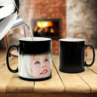 MUG CUP Magic PERSONALISED Custom PHOTO Kitchen Hot Coffee Tea Drink Gift Colour