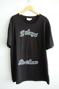 Men's Gucci L' Aveugle Par Amour Short Sleeve Black T-Shirt sz XXXL