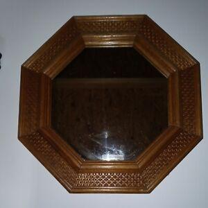 Wooden Octagon Mirror 12x12