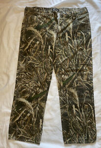 Men's Real Tree 5 Pocket Pants Camouflage Size 38 Inseam 32 Cotton